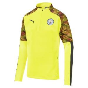 [해외][Order] 19-20 Manchester City Training Fleece Top - Fizzy Yellow
