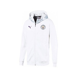 [해외][Order] 19-20 Manchester City Casuals Zip/Thru Hoody Jacket - Puma White