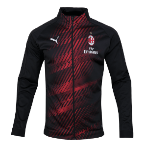 19-20 AC Milan Stadium Jacket - Black