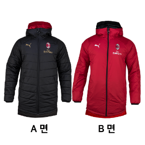 18-19 AC Milan Reversible Bench Jacket
