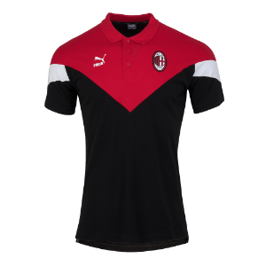 19-20 AC Milan Iconic MCS Polo Shirt - Black