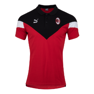 19-20 AC Milan Iconic MCS Polo Shirt - Red