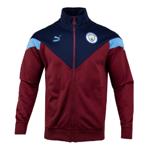 19-20 Manchester City ICONIC MCS Track Jacket - Burgundy