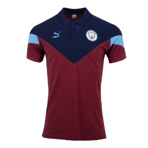 19-20 Manchester City ICONIC MCS Polo Shirt - Burgundy