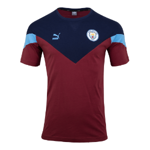 19-20 Manchester City ICONIC MCS Tee - Burgundy