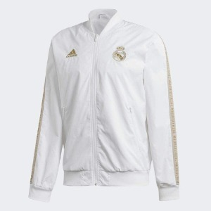 [해외][Order] 19-20 Real Madrid Anthem Jacket - White/Dark Football Gold