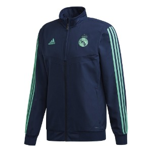 [해외][Order] 19-20 Real Madrid EU Pre-Match Jacket - Night Indigo/Hi-Res Green