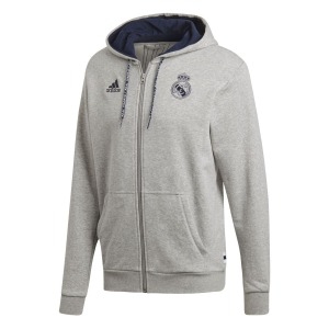 [해외][Order] 19-20 Real Madrid Full Zip Hoodie - Medium Grey Heather/Night Indigo