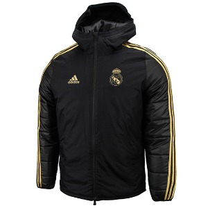[해외][Order] 19-20 Real Madrid Winter Jacket - Black/Dark
