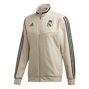 [해외][Order] 19-20 Real Madrid Pre-Match Jacket - Raw Gold/Black