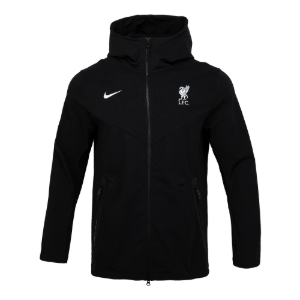 20-21 Liverpool Tech Pack FZ Hoodie Jacket - Black