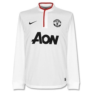12-13 manchester United UCL(Champions League) Away L/S