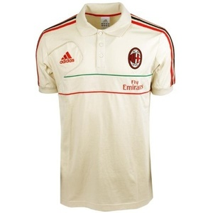 [Order] 12-13 AC Milan Training Polo Shirt - Bone