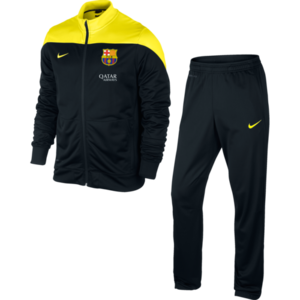 13-14 Barcelona Squad Sideline Knit Warmup Suit - Black/Yellow