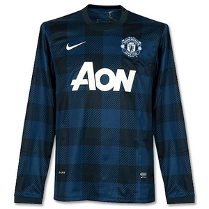 [해외][Order] 13-14 Manchester United Boys UCL(UEFA Champios League) Away L/S - KIDS