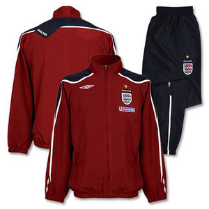 08-09 England Training Bench Woven Suit