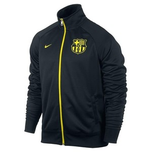 [Order] 12-13 Barcelona(FCB) Core Trainer jacket - Black/Vibrant Yellow Black