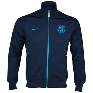 [Order] 12-13 Barcelona(FCB) Authentic N98 Boys Jacket (Obsidian/Dynamic Blue) - KIDS