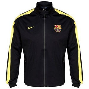 [Order] 13-14 Barcelona(FCB) Authentic UCL(UEFA Champions League) N98 Jacket - Black/Vibrant Yellow Black