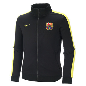 [Order] 13-14 Barcelona(FCB) Authentic N98 Boys  Jacket (Black/Vibrant Yellow) - KIDS