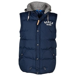 [Order] 13-14 Barcelona Heritage Puffa Hooded Gilet - Navy