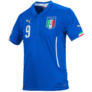 14-15 Italy (FIGC) Boys Home + 9 BALOTELLI - KIDS
