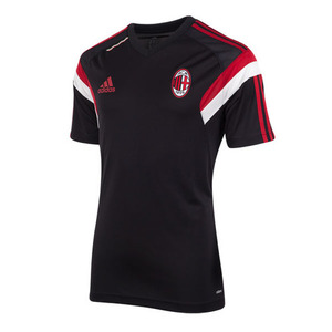 [Order] 14-15 AC Milan Home Training Shirt Boys (Black) - KIDS
