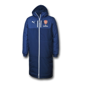 [해외][Order] 14-15 Arsenal Managers Long Bench Jacket - Navy