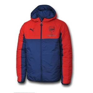 [해외][Order] 14-15 Arsenal Reversible Jacket with Sponsor - High Risk Red/Estate Blue