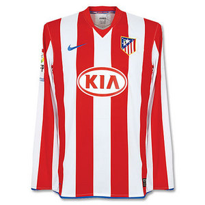 08-09 AT Madrid Home L/S (P2R Player Jersey)