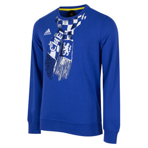 [해외][Order] 14-15 Chelsea(CFC) Graphic Sweat Top - Chelsea Blue