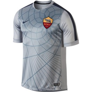 [해외][Order] 14-15 AS Roma Pre-Match Training Jersey - Grey
