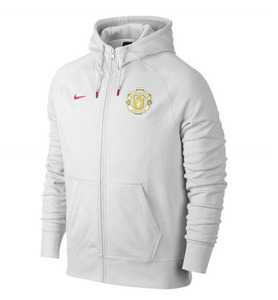 [해외][Order] 14-15 Manchester United Authentic AW77 Full Zip Hoody - White