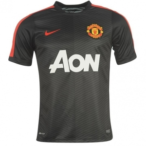 [해외][Order] 14-15 Manchester United Boys Pre-Match Training Jersey (Black) - KIDS