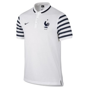 [해외][Order] 15-16 France(FFF) Authentic League Polo Shirt - White
