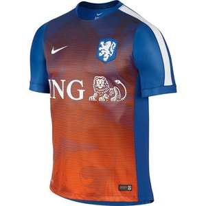 [해외][Order] 15-16 Netherlands (Holland/KNVB) Pre-Match Training Shirt - Blue/Orange