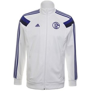 [Order] 14-15 Schalke 04 Anthem Jacket - White/Cobalt
