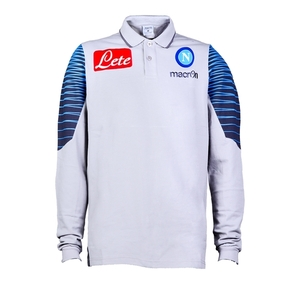 [Order] 14-15 Napoli Official LS Cotton Polo Shirt - Light Grey