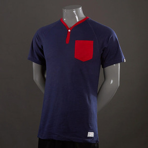 [Order] 14-15 PSG Covert Henley Top - Obsidian/Gym Red