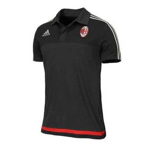 [해외][Order] 15-16 AC Milan Training Polo - Black/Solid Grey/Victory Red