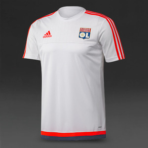 [해외][Order] 15-16 Lyon Training jersey (White/Solar Red/Night Marine) - adizero