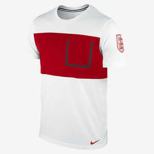 [Order] 14-15 England Bonded Pocket T-Shirt - White/Gym Red