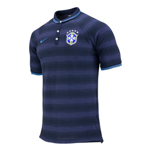[Order] 14-15 Brasil (CBF) Authentic League Polo Shirt - Navy