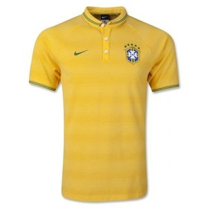 [Order] 14-15 Brasil (CBF) Authentic League Polo Shirt - Yellow