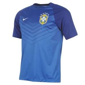 [Order] 14-15 Brasil (CBF) Pre-Match Training Shirt - Blue