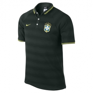[Order] 14-15 Brasil (CBF) Authentic League Polo Shirt - Black