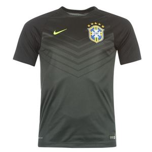 [Order] 14-15 Brasil (CBF) Pre-Match Training Shirt - Black