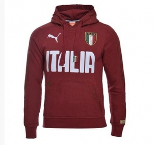 [Order] 14-15 Italy (FIGC) Hooded Top - Red