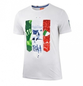 [Order] 14-15 Italy (FIGC)  Badge Tee - White
