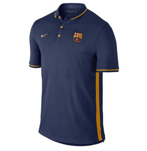 [해외][Order] 15-16 Barcelona Authentic Polo Shirt - Loyal Blue